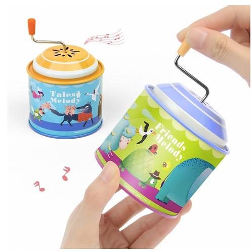 Mideer Cartoon Metal Tin Music Box Instrument Kids Educational Toys for Children