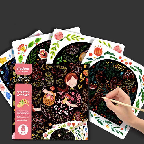 Mideer Magic Color Scratch Art Paper magic draw Coloring Cards