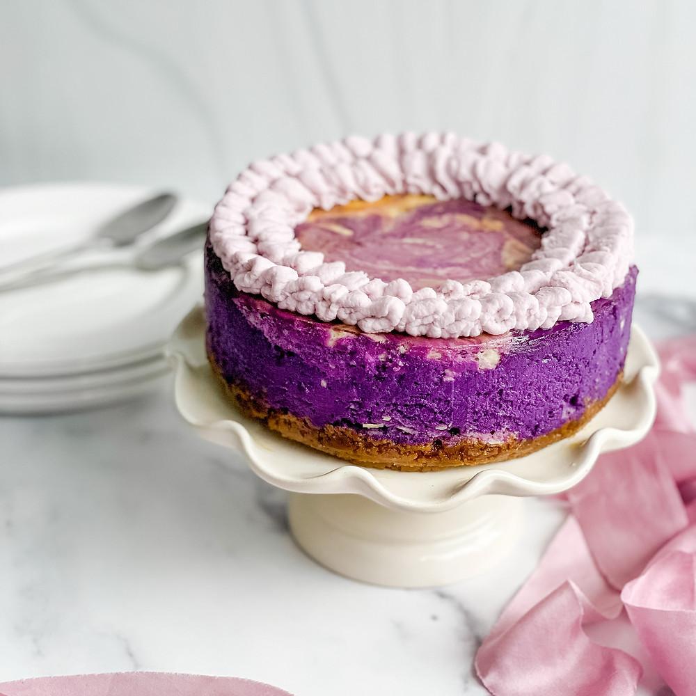 purple ube cheesecake