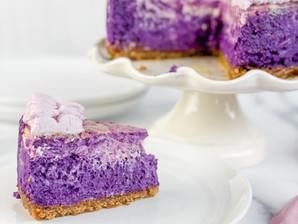 Ube Swirl Cheesecake