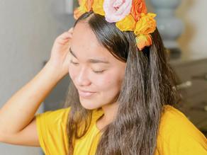 Frida Kahlo Inspired Floral Headband