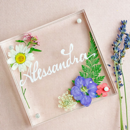 DIY Pressed Flowers Personalized Frame