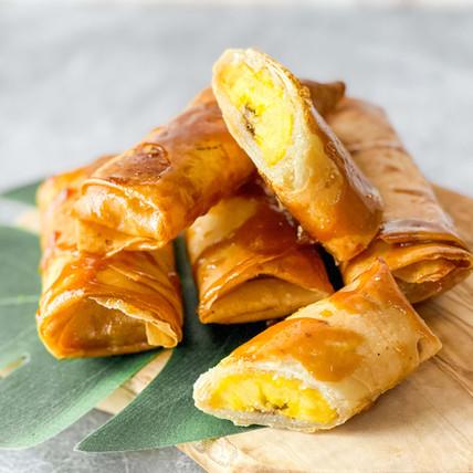 Crispy Caramel Plantain Rolls (Filipino Turon)