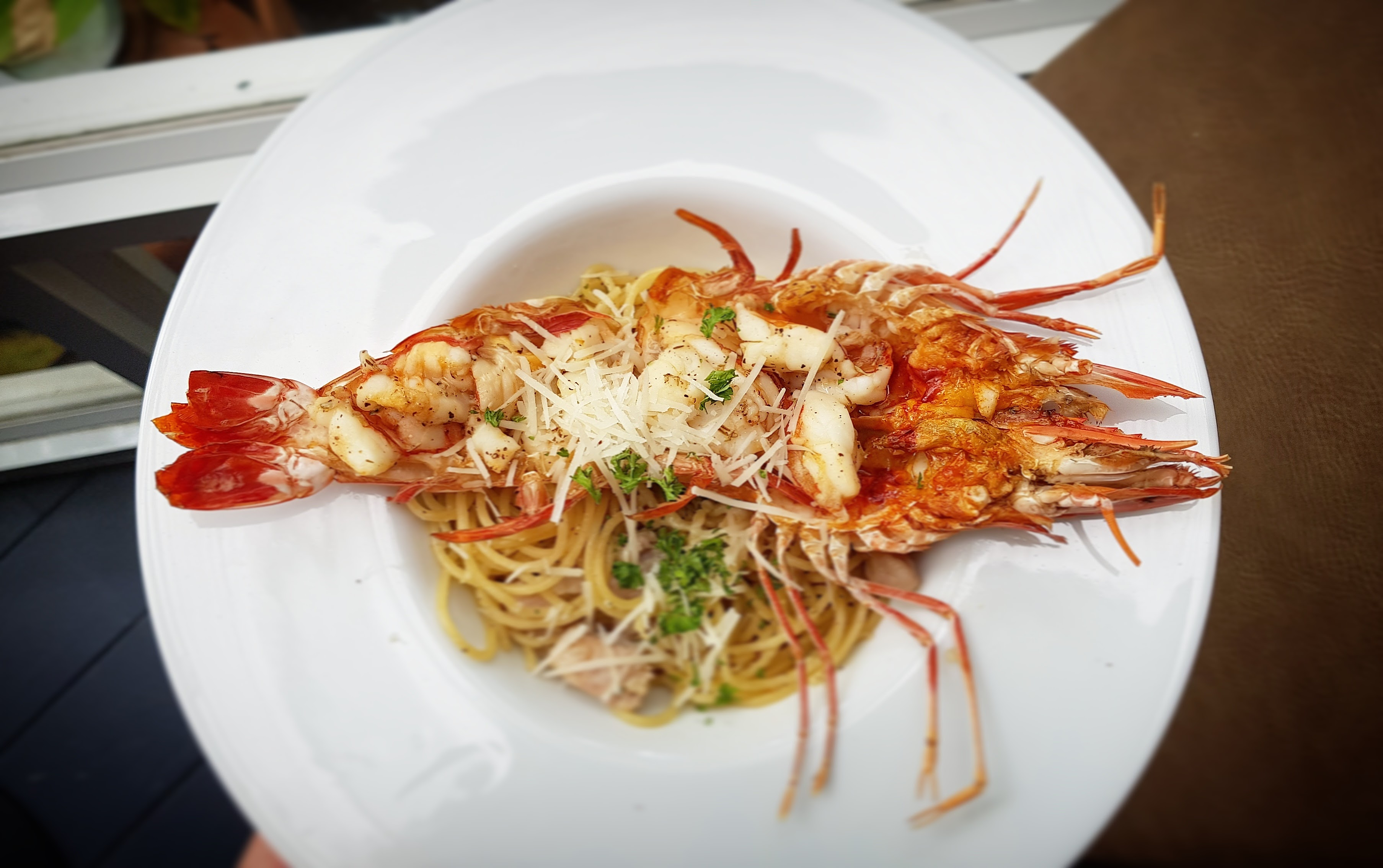 Aglio Olio and Tiger Prawn