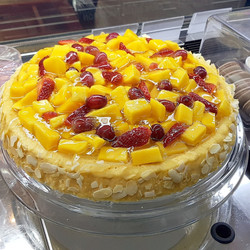 Mango and Berries Chiffon Cake