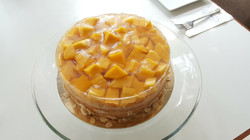 Mango and Jelly Chiffon Cake