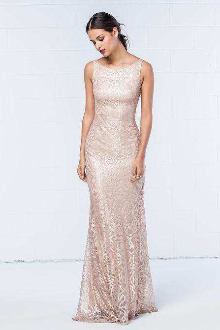 low back bridesmaid dress