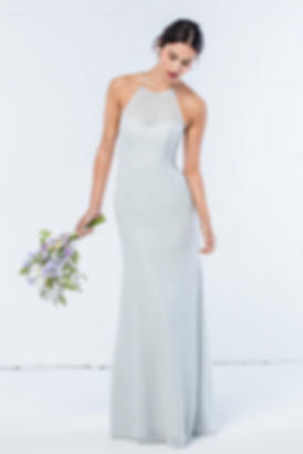 highneck bridesmaid dress