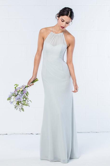 highneck bridesmaid dress