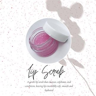 A gentle lip scrub that cleanses, exfoli