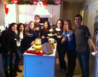 Youth Ambassadors Making Dinner!