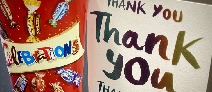 Thank you for the thank you!