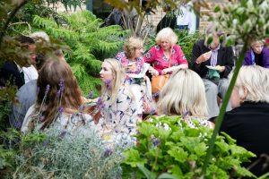 Tea in Mildmay's beautiful courtyard garden