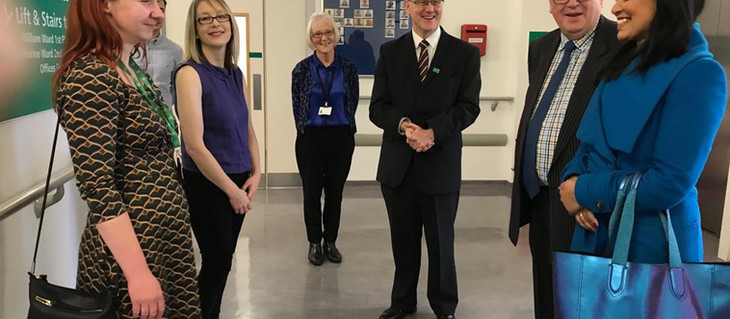MP visits Mildmay Hospital