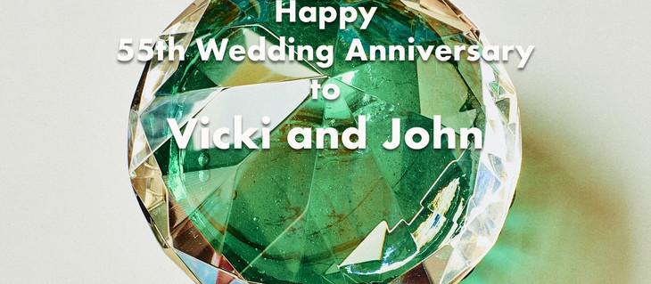 Congratulations to Vicki and John