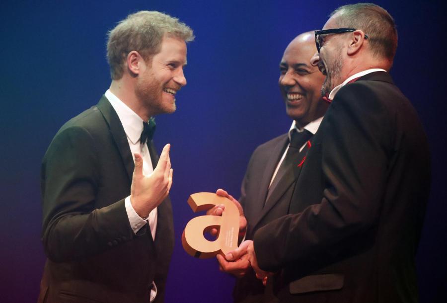 HRH Prince Harry Julian La Bastide and Ian Walker at The Attitude Awards