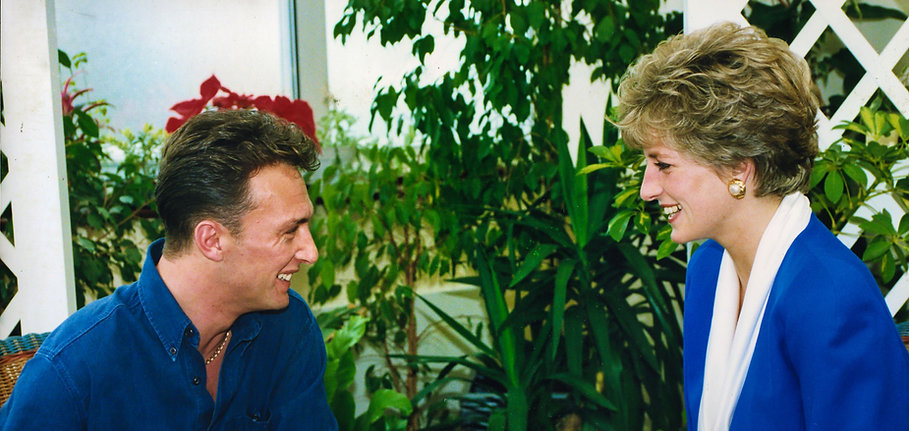Princess Diana and Mildmay patient smiling at each other.jpg