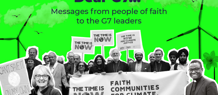 'Dear G7 Leaders' - Messages from people of faith