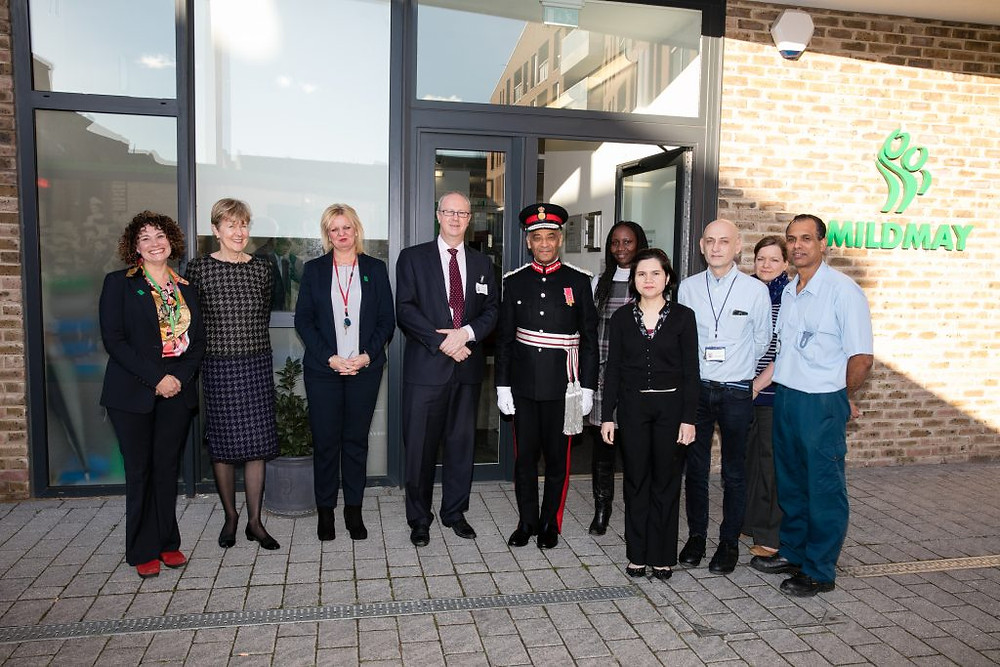 With some of Mildmay's Staff outside the hospital
