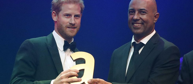 HRH Prince Harry accepts Attitude Award co-presented by Mildmay