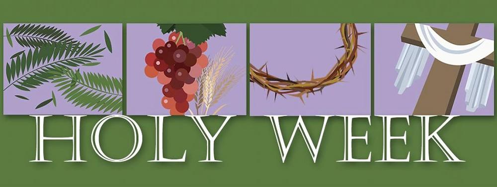 Banner for Holy Week 2021 blog post