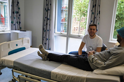 Billy in a patient room
