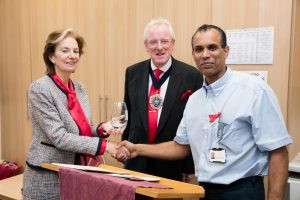 Long Service award given to our facilities manager Gerard