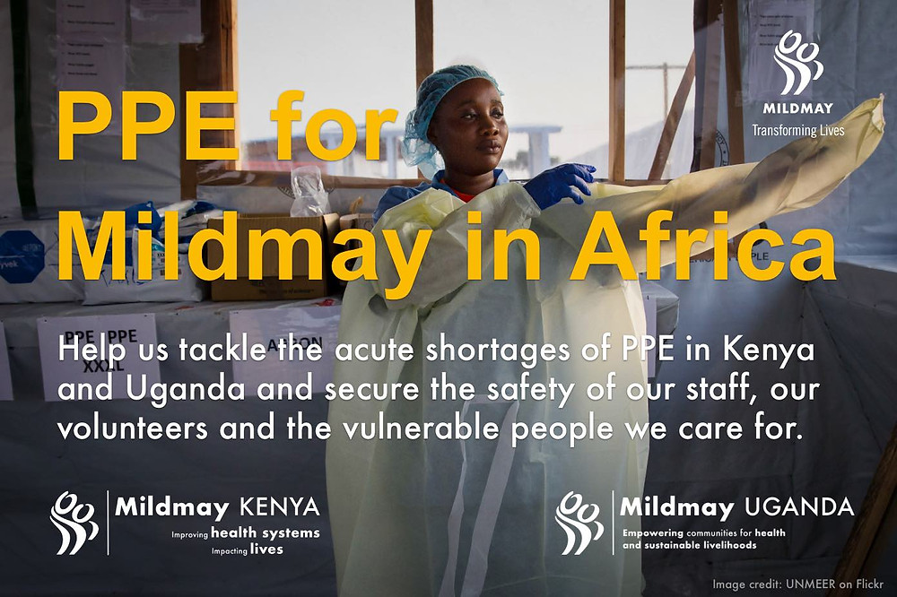 PPE for Mildmay in Africa banner