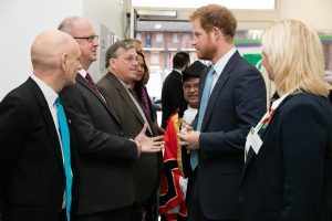 HRH Prince Harry visits Mildmay - 14Dec15