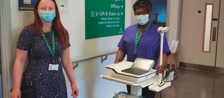 A new ECG machine for Mildmay Hospital
