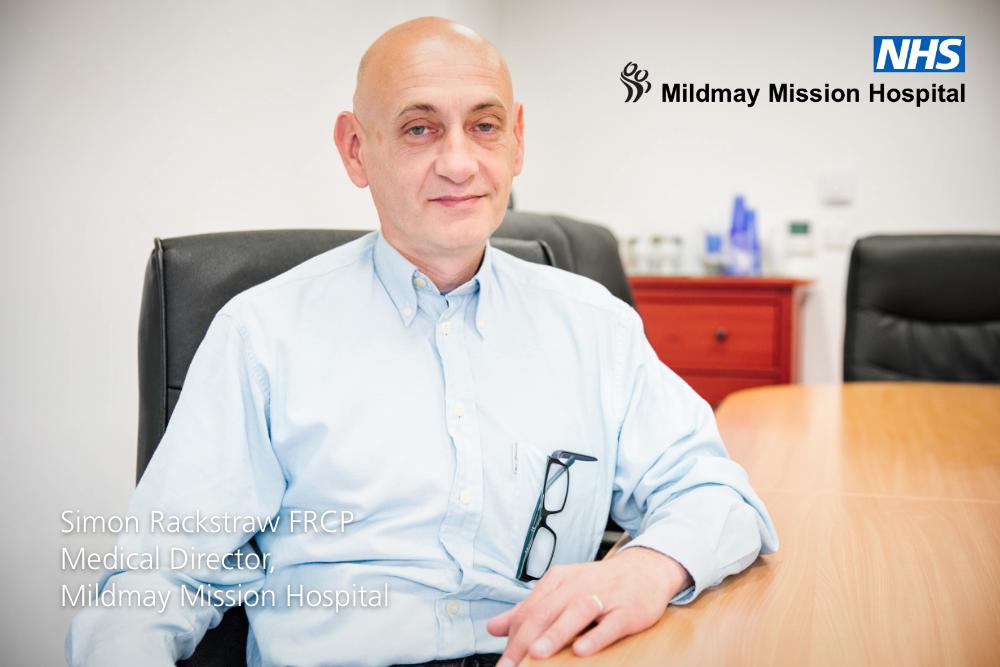 Dr Simon Rackstraw, Mildmay's Medical DIrector