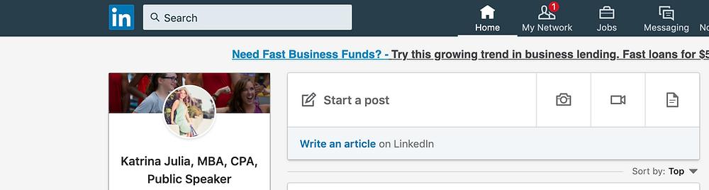 Posting Articles on LinkedIn