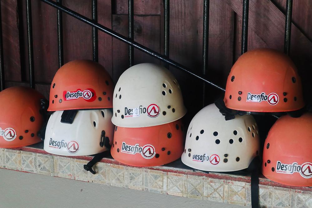 Helmets via Desafio Adventure Company
