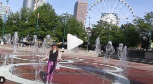 Centennial Olympic Park with Skyview Atlanta