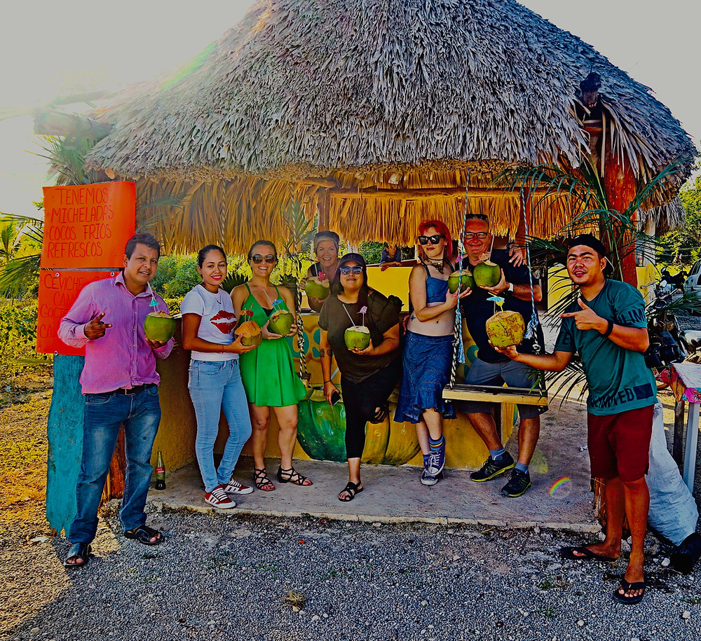 Airbnb Adventure: Coconut Stand on Way to Holbox Island