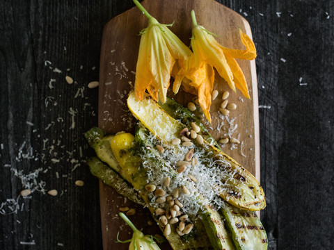 Grilled Zucchini with Deconstructed Gremolata