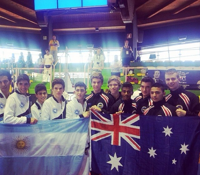 Instagram - #Regram from @aleckumar #Rome #ITFWorldCup #2014 #tkditf #teamaustra