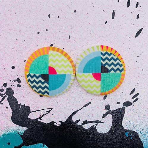 SoHo - Jumbo Textile Earrings