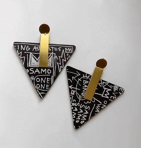 SAMO Word Art Earrings