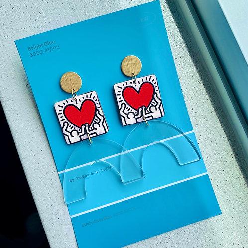 Keith Haring Pop Art Earrings