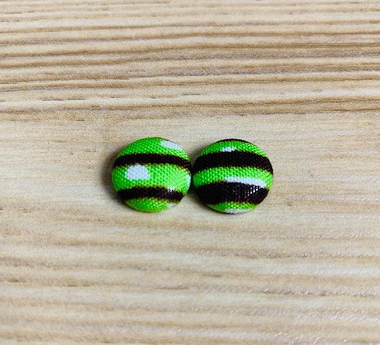 Harper - Tiny Textile Earrings