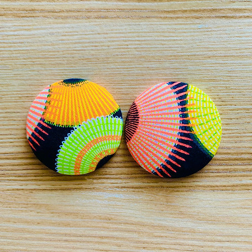 Solaris - Jumbo Textile Earrings