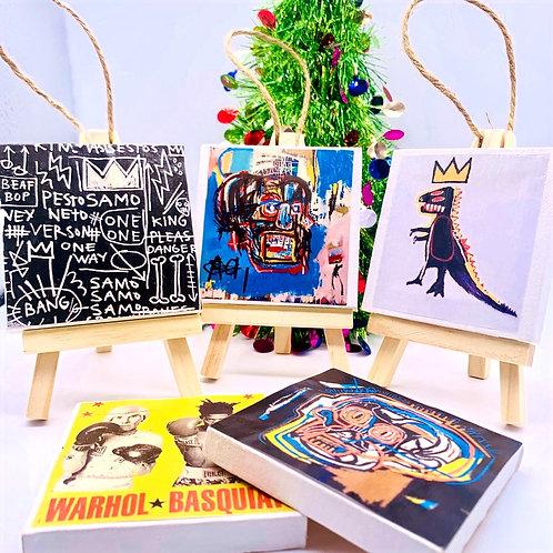 Basquiat Canvas Art Ornaments