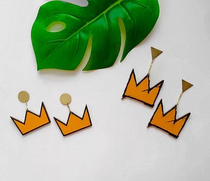 Basquiat Crown Earrings