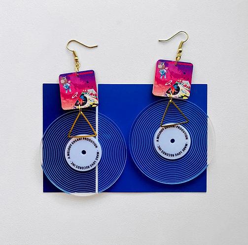 Kanye Vinyl Record Earrings