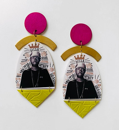 J. Dilla Hip Hop Earrings