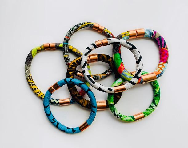 Urban Collars Textile Jewelry - Vibrant Textile Collar Necklaces