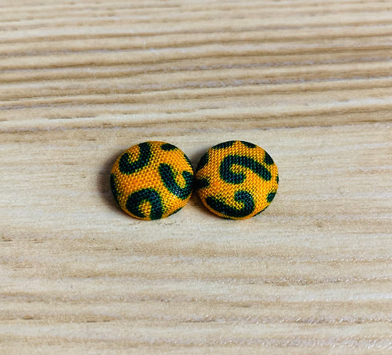Margo - Tiny Textile Earrings