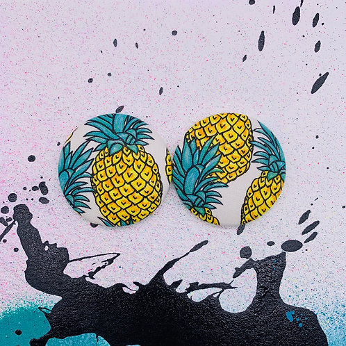Fineapple - Jumbo Textile Earrings