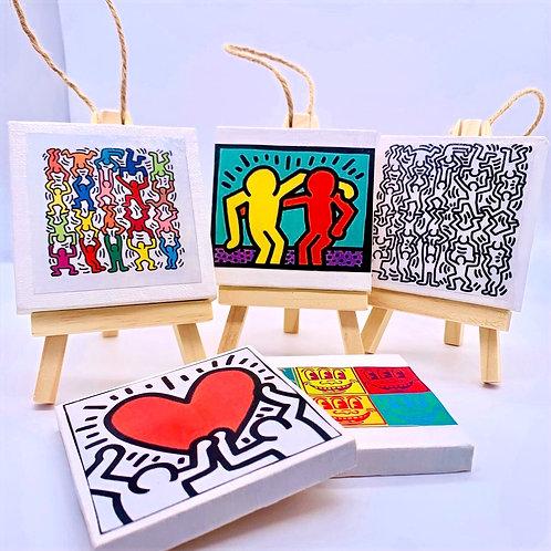 Keith Haring Canvas Art Ornaments